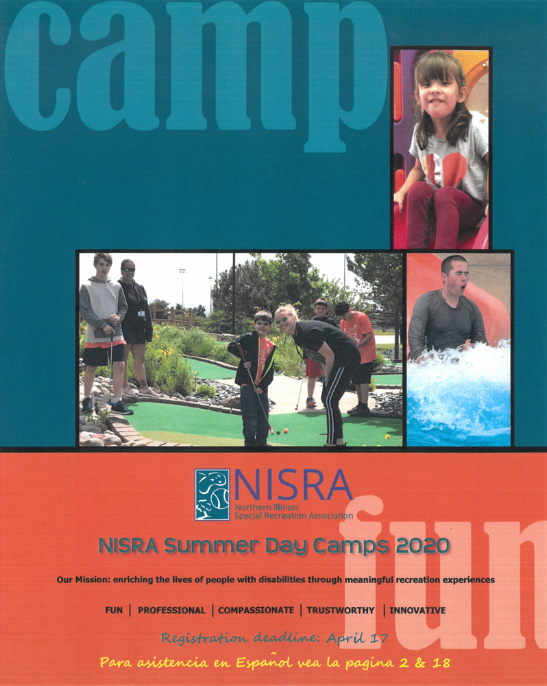 summer day camps brochure cover