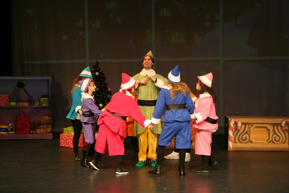 Performers in a Christmas play