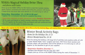 picture of holiday activities postcard