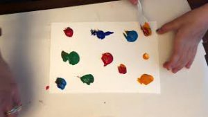Finger painting with Saran Wrap thumbnail picture for video