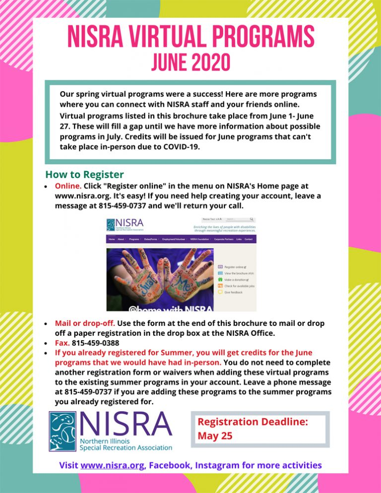 cover image of Virtual Programs June 2020 brochure